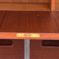 Hans Wegner Modern Twist Danish Teak Cabinet Hutch Combo in Ceruse Gray 1970s Denmark - 1637041