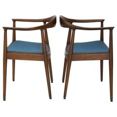 Hans Wegner Pair Of Blue Danish Modern Chairs Attributed To The Chair Hans  Wegner   163971