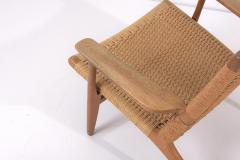Hans Wegner Pair of Early Hans J Wegner Easy Chairs CH 25  - 1830985