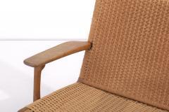 Hans Wegner Pair of Early Hans J Wegner Easy Chairs CH 25  - 1830987
