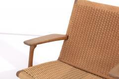 Hans Wegner Pair of Early Hans J Wegner Easy Chairs CH 25  - 1830989