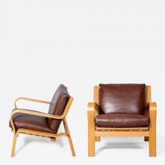 Hans Wegner Pair Of Hans Wegner GE 671 Lounge Chairs   179301