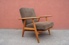 Hans Wegner Pair of Oak GE 240 Lounge Chair by Hans Wegner for GETAMA - 618819