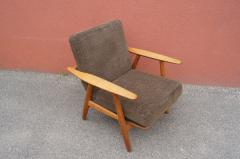 Hans Wegner Pair of Oak GE 240 Lounge Chair by Hans Wegner for GETAMA - 618821