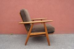 Hans Wegner Pair of Oak GE 240 Lounge Chair by Hans Wegner for GETAMA - 618822