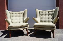 Hans Wegner Pair of Papa Bear Chairs by Hans Wegner for A P Stolen - 1026373