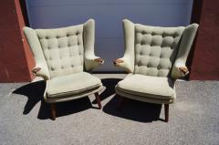Hans Wegner Pair of Papa Bear Chairs by Hans Wegner for A P Stolen - 1026374