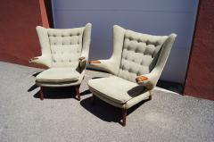 Hans Wegner Pair of Papa Bear Chairs by Hans Wegner for A P Stolen - 1026376