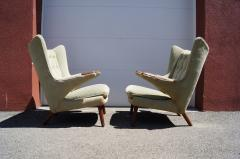 Hans Wegner Pair of Papa Bear Chairs by Hans Wegner for A P Stolen - 1026378