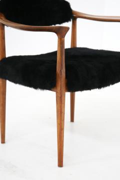 Hans Wegner Pair of black armchairs by Hans Wegner Mod JH 501 in teak 1950s - 1610031