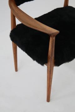 Hans Wegner Pair of black armchairs by Hans Wegner Mod JH 501 in teak 1950s - 1610032