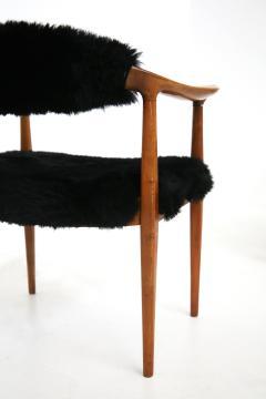 Hans Wegner Pair of black armchairs by Hans Wegner Mod JH 501 in teak 1950s - 1610033
