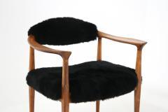 Hans Wegner Pair of black armchairs by Hans Wegner Mod JH 501 in teak 1950s - 1610035