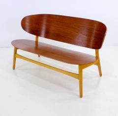 Hans Wegner Rare Danish Modern Shell Settee Designed by Hans Wegner - 308905