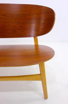 Hans Wegner Rare Danish Modern Shell Settee Designed by Hans Wegner - 308910