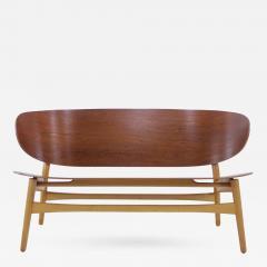 Hans Wegner Rare Danish Modern Shell Settee Designed by Hans Wegner - 309217