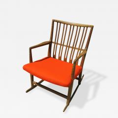 Hans Wegner Rare Early ML 33 Oak Rocking Chair With Carvings By Hans Wegner    306446