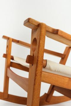 Hans Wegner Rocking chair Hans Wegner Getama Keyhole Mod 673 - 1992424