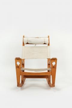 Hans Wegner Rocking chair Hans Wegner Getama Keyhole Mod 673 - 1992445