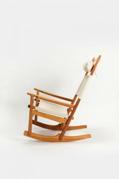 Hans Wegner Rocking chair Hans Wegner Getama Keyhole Mod 673 - 1992446