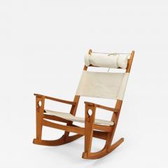 Hans Wegner Rocking chair Hans Wegner Getama Keyhole Mod 673 - 1996509