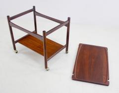 Hans Wegner Scandinavian Modern Teak Rolling Bar Cart Desinged by Hans Wegner - 1057724