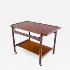 Hans Wegner Scandinavian Modern Teak Rolling Bar Cart Desinged by Hans Wegner - 1057771