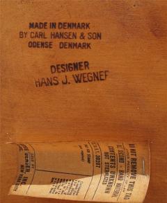 Hans Wegner Set Of 6 Hans J Wegner Dining Chairs Model CH30 For Carl Hansen Son - 1982921
