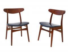 Hans Wegner Set Of 6 Hans J Wegner Dining Chairs Model CH30 For Carl Hansen Son - 1982923