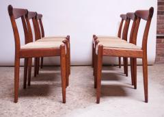 Hans Wegner Set of Six Hans Wegner W2 Dining Chairs for C M Madsen in Oak - 1083627