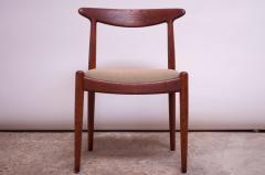 Hans Wegner Set of Six Hans Wegner W2 Dining Chairs for C M Madsen in Oak - 1083632
