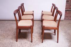 Hans Wegner Set of Six Hans Wegner W2 Dining Chairs for C M Madsen in Oak - 1083636