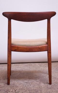 Hans Wegner Set of Six Hans Wegner W2 Dining Chairs for C M Madsen in Oak - 1083639