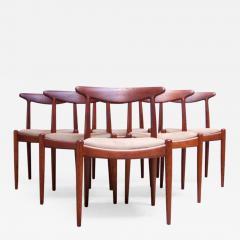 Hans Wegner Set of Six Hans Wegner W2 Dining Chairs for C M Madsen in Oak - 1091090
