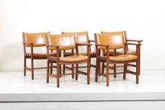 Hans Wegner Set of Ten GE 1960s Armchairs in Leather by Hans Wegner for by GETAMA Denmark - 1043930