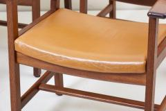 Hans Wegner Set of Ten GE 1960s Armchairs in Leather by Hans Wegner for by GETAMA Denmark - 1043931