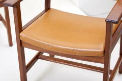 Hans Wegner Set of Ten GE 1960s Armchairs in Leather by Hans Wegner for by GETAMA Denmark - 1043933