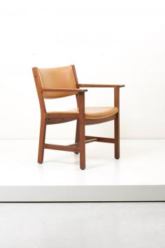 Hans Wegner Set of Ten GE 1960s Armchairs in Leather by Hans Wegner for by GETAMA Denmark - 1043936