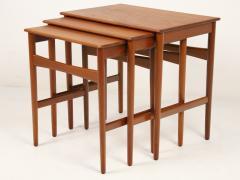 Hans Wegner Set of Three Scandinavian Modern Nesting Tables Designed by Hans Wegner - 2008017