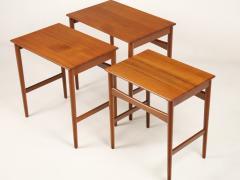 Hans Wegner Set of Three Scandinavian Modern Nesting Tables Designed by Hans Wegner - 2008018