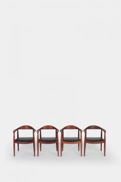 Hans Wegner Set with 4 Hans Wegner Johannes Hansen JH 501 Teak - 1719821
