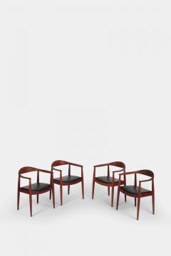 Hans Wegner Set with 4 Hans Wegner Johannes Hansen JH 501 Teak - 1719822