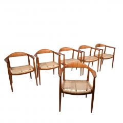 Hans Wegner Six Hans Wegner Classics Arm Chairs for Johannes Hansen - 1057328