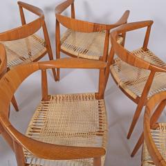 Hans Wegner Six Hans Wegner Classics Arm Chairs for Johannes Hansen - 1057331