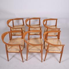 Hans Wegner Six Hans Wegner Classics Arm Chairs for Johannes Hansen - 1057334