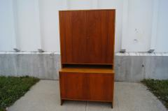 Hans Wegner Tall Teak and Oak Cabinet by Hans Wegner - 102406