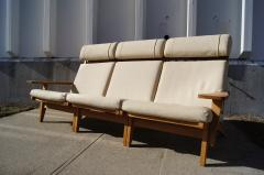 Hans Wegner Three Piece Oak Frame Sofa Model GE 375 by Hans Wegner for Getama - 105475