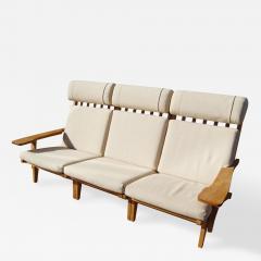 Hans Wegner Three Piece Oak Frame Sofa Model GE 375 by Hans Wegner for Getama - 183093