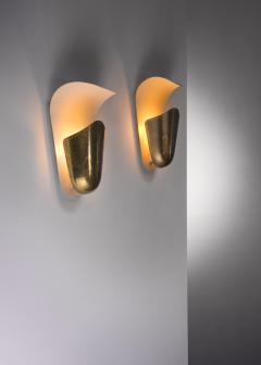 Harald Notini Harald Notini pair of brass wall lamps for Bohlmarks - 2140407