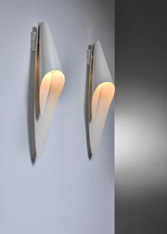 Harald Notini Pair of Bohlmarks metal wall lamps - 1554900